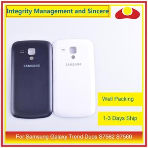 Image 1 - 10Pcs/lot For Samsung Galaxy Trend Duos S7562 7562 S7560 7560 Housing Battery Door Rear Back Cover Case Chassis Shell