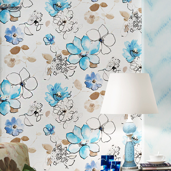 beibehang American decals can be cloth background personality butterfly flowers retro green wall full of wallpaper authentic