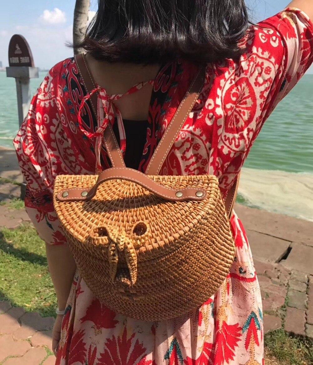 Mm Bambou Femmes Main À Bohême Plage Tricot La De 2019 gm Dos Sac x1wPBqHF