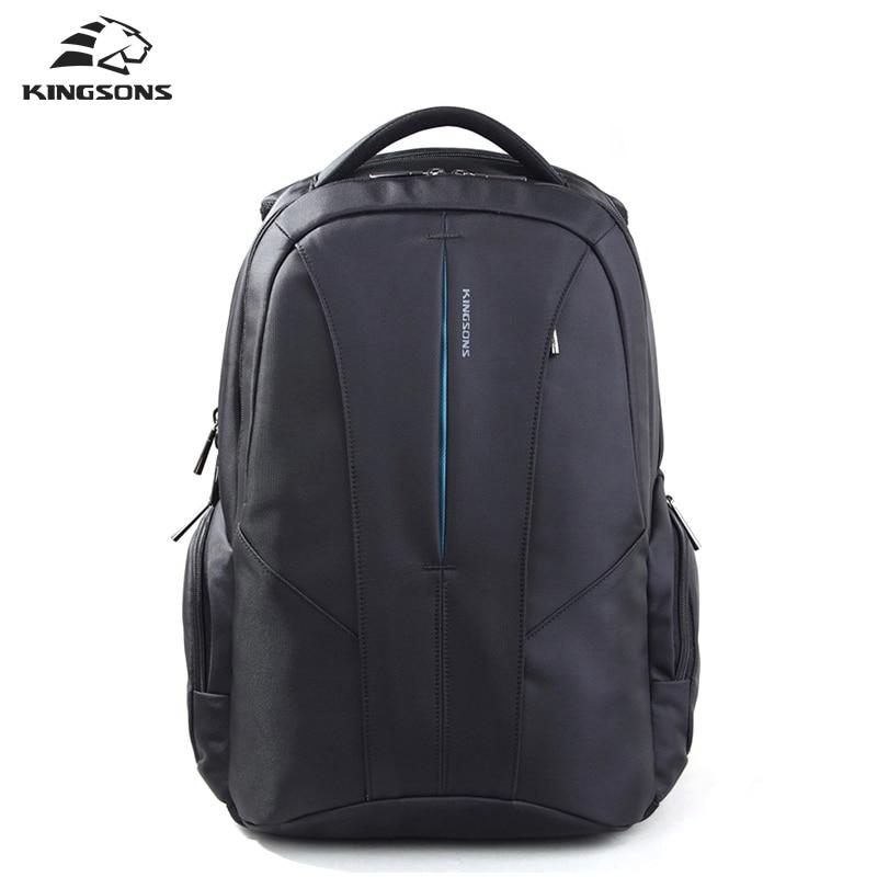 KINGSONS Brand Business Backpack 15.6inch Laptop bags  Waterproof Bags External USB Charge teenager student school bag Backpacks