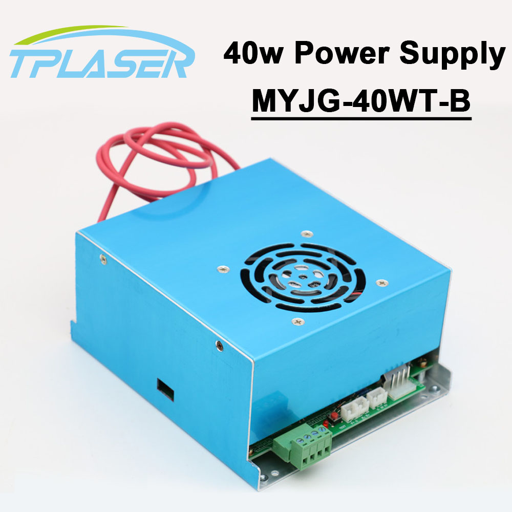 CO2 Laser Power Supply 40W 110V 220V for Laser Tube Engraving Cutting Machine MYJG 40WT-B
