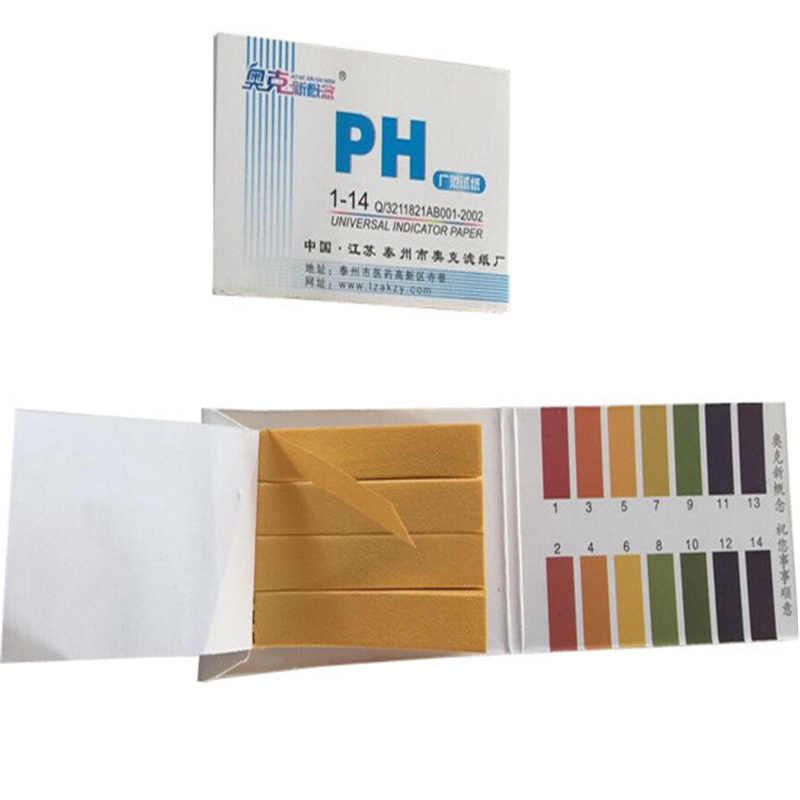 80 แถบ PH Test Strip ตัวบ่งชี้กระดาษ Controller 1-14 กระดาษทดสอบกระดาษเครื่องทดสอบปัสสาวะสุขภาพ Care กระดาษ water Soilsting Kit