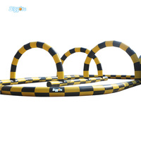 Sea Shipping Inflatable Car Or Bumper Ball Go Race Track Inflatable Race Track For Sale