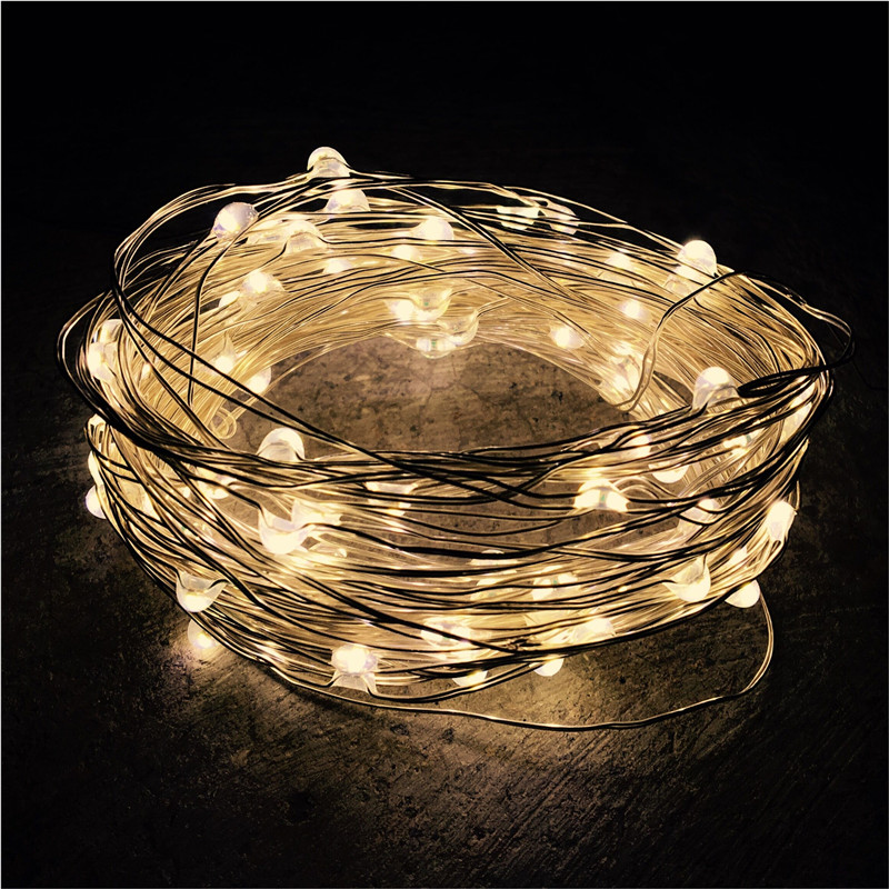 New Year Christmas Garland Copper Wire LED String Lamp Fairy lights 2m/5m Length for ind ...