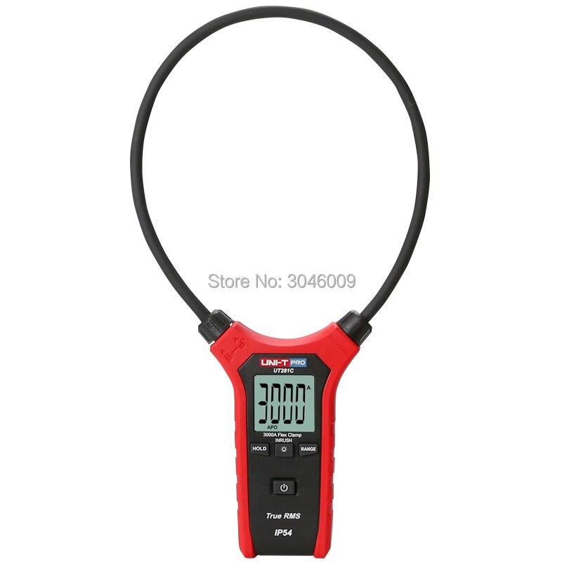 UNI T UT281C vrai RMS AC 3000A ampèremètre de serrage Flexible, rétro éclairage de Table polyvalent/mise hors tension automatique - 2
