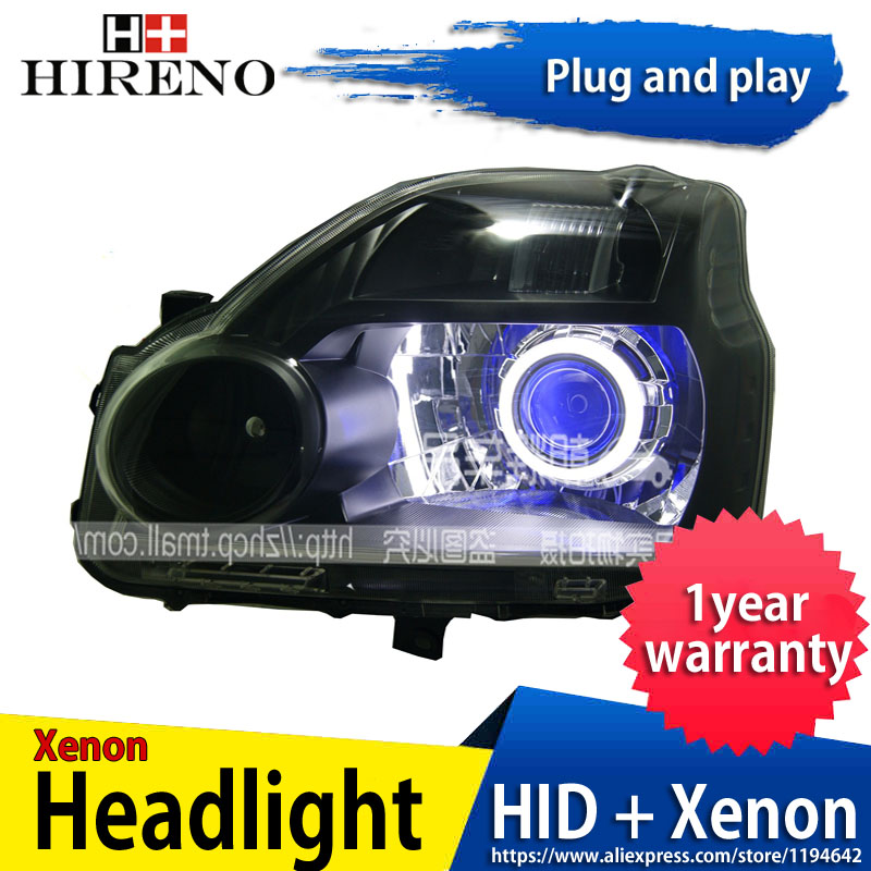 Car custom Modified Xenon Headlamp for Nissan X-Trail 2008-12 Headlights Assembly Car styling Angel Lens HID 2pcs hireno headlamp for mercedes benz w163 ml320 ml280 ml350 ml430 headlight assembly led drl angel lens double beam hid xenon 2pcs