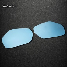 Tonlinker 1-3 PCS DIY Car Styling NEW Car Styling The Paste-type Anti-glar Rearview Blue Mirror Stickers for HONDA VEZEL HRV