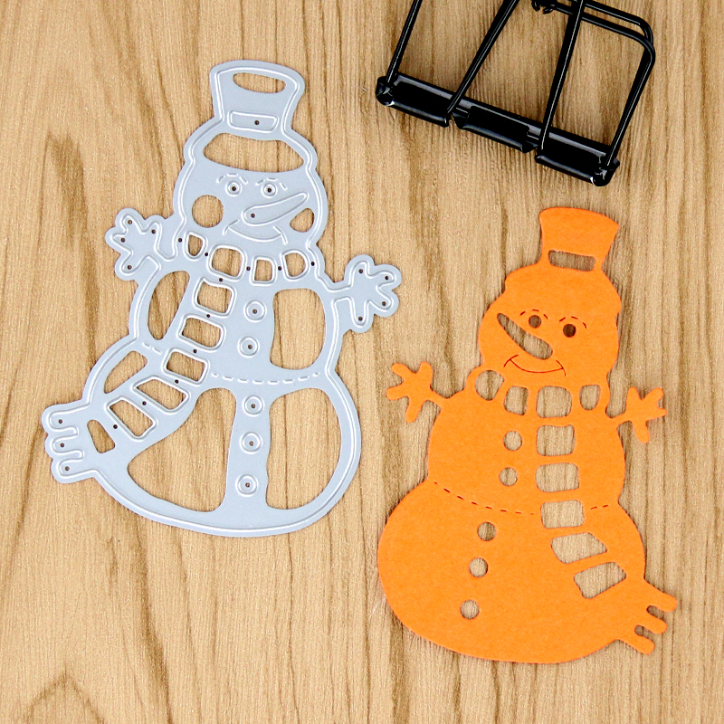 2017 new Die cut Snowman Metal die cutting dies for DIY Scrapbooking Photo Album Decoret ...