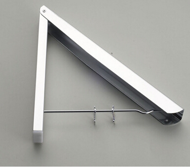 New Wall Mounted Space Aluminum Clothes Drying Hanger Foldable Laundry Rack