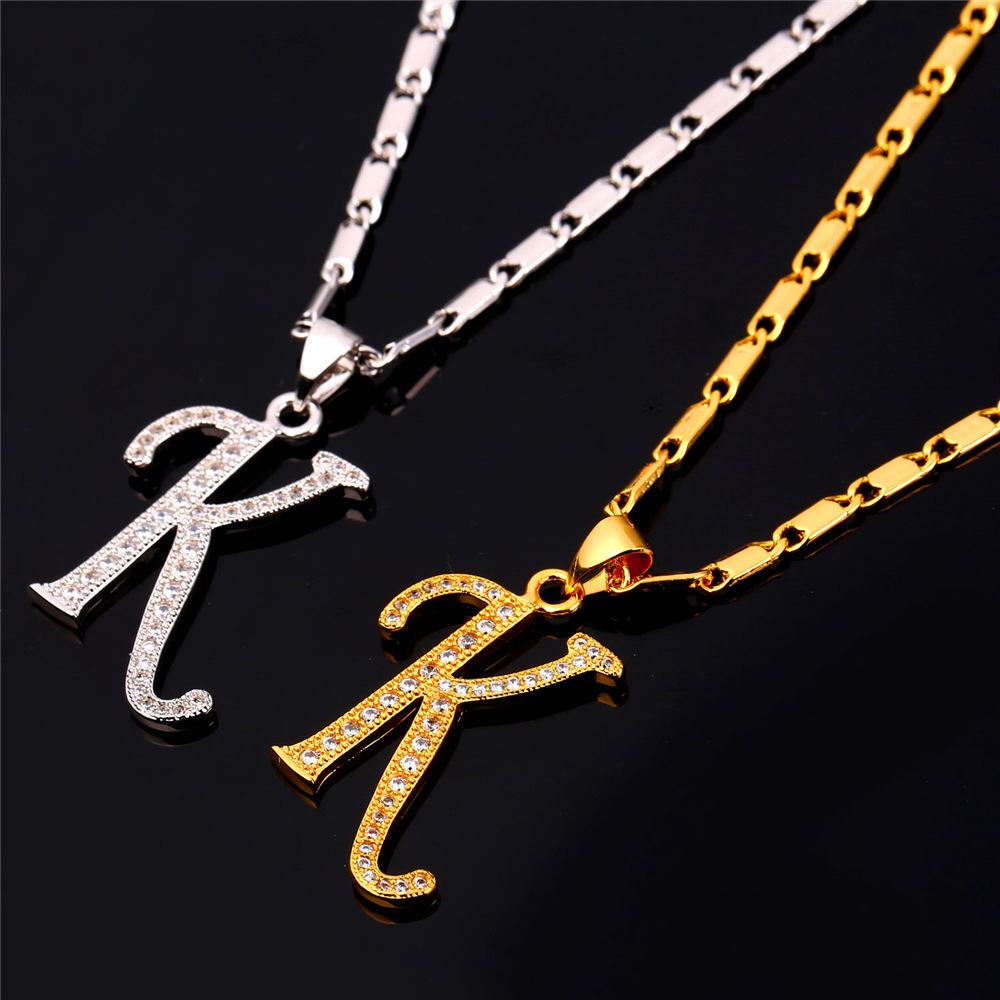 K&d Home & Design Part - 19: Starlord Initial K Letter Pendants U0026 Necklaces Women/Men Personalized Gift  Alphabet Jewelry Gold Color Necklace P1681-in Pendant Necklaces From  Jewelry ...