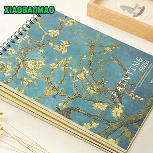 Cute Notebook school Sketchbook A3 A4 8k 16k Drawing 36 sheets paper Sketch Book Sprial Office School Supplies Gift a5 blank sketchbook diary drawing graffiti painting kraft sketch book 80 sheets spiral notebook paper office school supplies