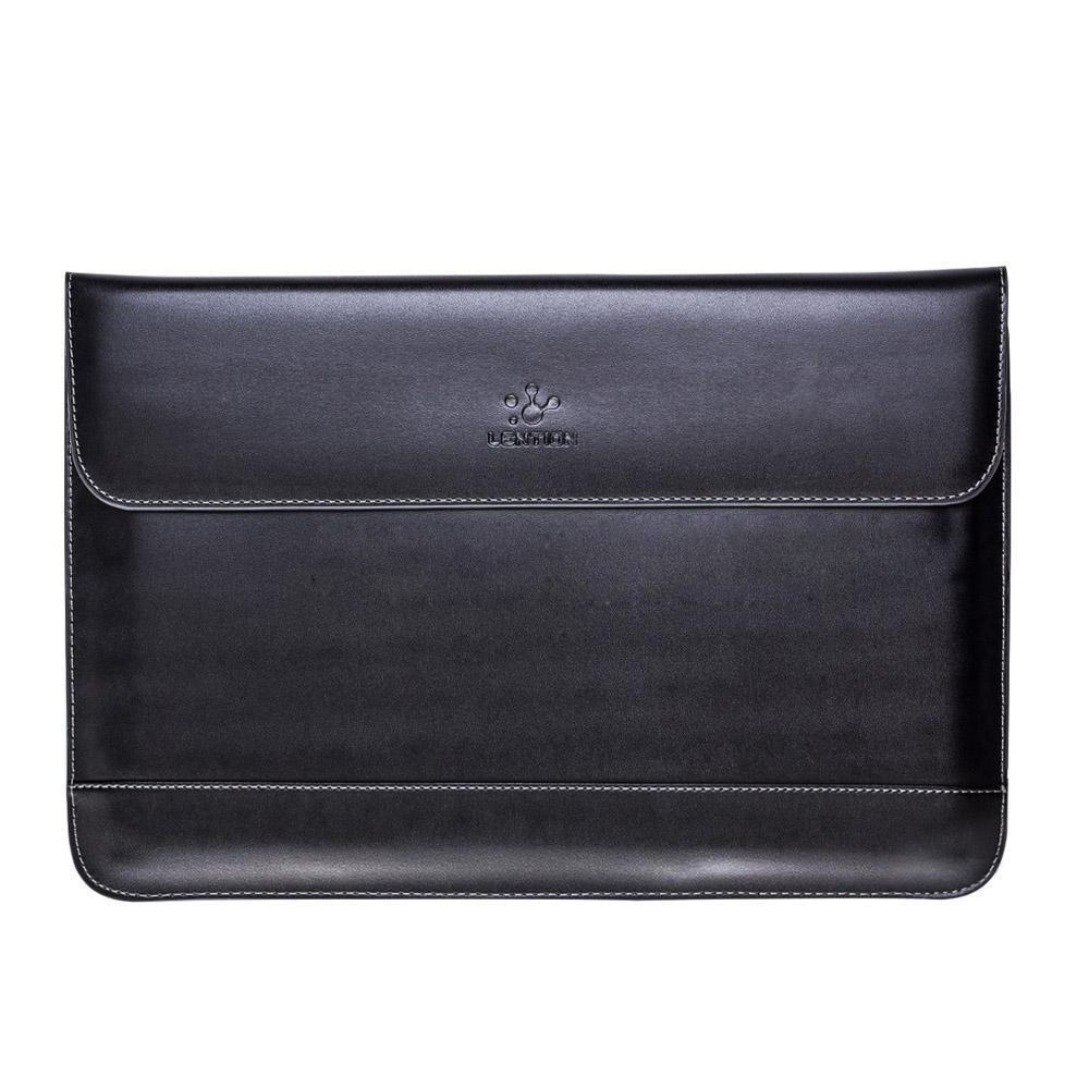 LENTION New Leather Notebook laptop Sleeve Case Bag For MacBook Pro/Air 13 Color:Black Size:For 13.3inch new neoprene laptop bag for macbook 13 waterproof laptop sleeve for macbook pro 13 15 case free keyboard cover notebook bag 14