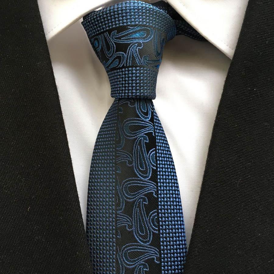italy designer tie men unique panel necktie luxury royal blue ties