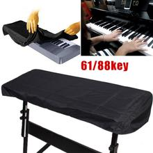 Black Piano Keyboard Dustproof Cover for 61/88 Keys Electronic Piano Dirtproof Lamination Cloth on Stage at Home