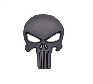 Image 4 - Rhino Tuning THE Punisher Body Badge 3D Skull Sticker Metal Auto Emblem For The Whole Body QX80 FX35 G25 Q70 Qx60 Car Styling