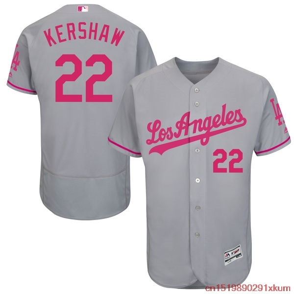 10553122dc5 ... mlb mens los angeles dodgers clayton kershaw baseball gray mothers day flex  base jersey