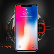 Roybens Qi Wireless Charger Mini Charging Pad Fast Charger Dock for Apple iPhone X 10 8 / 8 Plus Samsung Galaxy S8 Plus Note 8