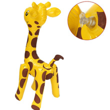 Balloon Party Large Blow Up Cute Children PVC Novelty Gift Cartoon Giraffe Design Deer Shaped Animals Inflatable Toy
