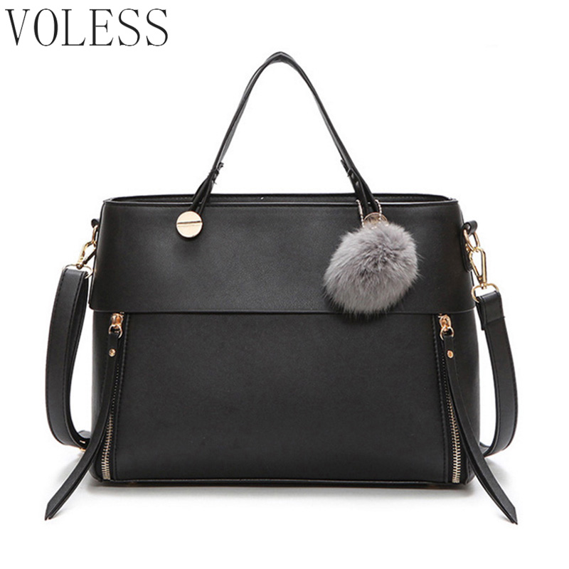 Patchwork Women Casual Totes Bags Pu Leather Handbag Fur Women Bags Large Capacity Vintage Brand Ladies Shoulder Bag bolsa