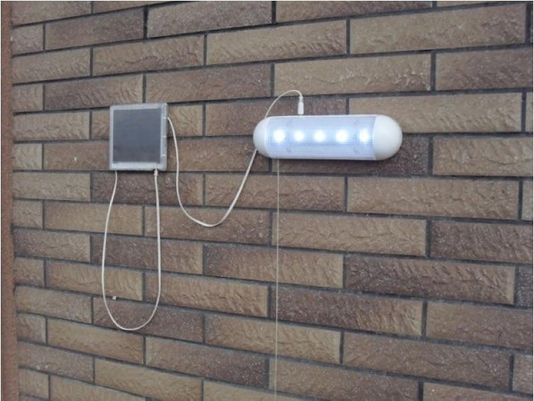 5 leds lâmpada de parede solar com