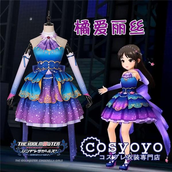 IDOLM STER Cinderella Girls Tachibana Arisu Cosplay Costume Lolita Gothic Dress
