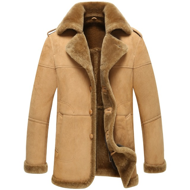 Aliexpress.com : Buy Natural leather jacket is very thick fur coat ...