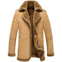 Natural Leather Jacket Is Very Thick Fur Coat Sheep Fur Coat Men Free Shipping In The