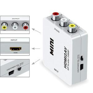 Image 5 - Hdmi2av av 스케일러 어댑터 hd 비디오 컨버터 박스 hdmi to rca av to vga av/cvsb l/r 비디오 1080 p av2hdmi
