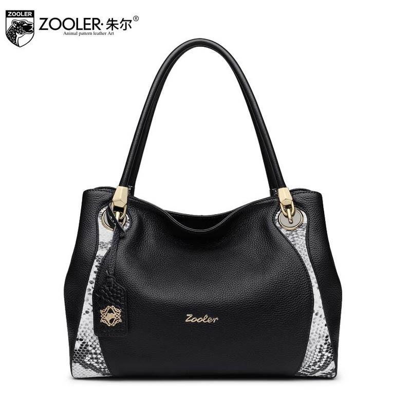 free delivery Genuine Leather  Women bag 2017 new snake pattern shoulder Messenger bag Large-capacity shoulder bag Brand handbag