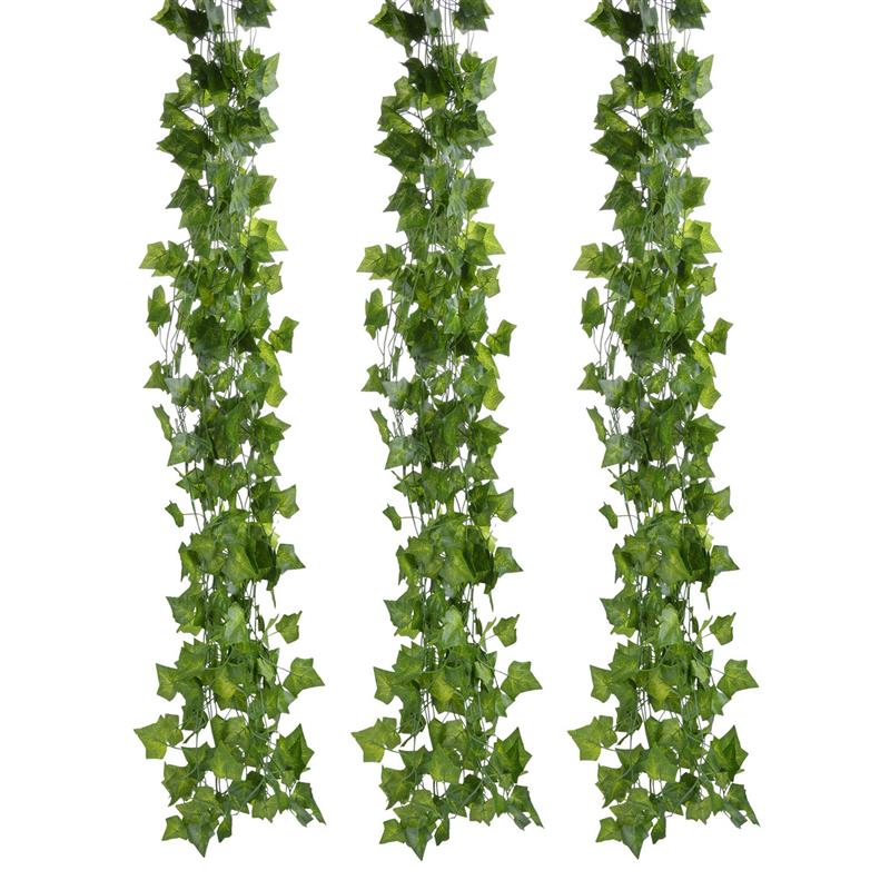 FunPa 12 Branch 6.89Ft Artificial Ivy Silk Fake Hanging Vine Plant Leaves Garland For Wall Decoration Artificial PantFunPa 12 Branch 6.89Ft Artificial Ivy Silk Fake Hanging Vine Plant Leaves Garland For Wall Decoration Artificial Pant