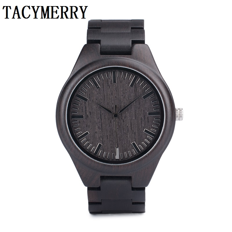 Round Vintage black Wood Case Men Watch With Ebony Bamboo Wood Face With black Bamboo Wood Strap Japanese movement bobo bird full round vintage ebony wood case men watch with wood face with ebony wood strap japanese movement quartz in gift box
