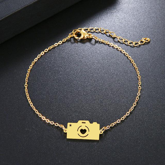 Camera Pendant Bracelet