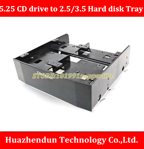 DEBROGLIE  1PCS  Multifunction chassis optical drive tray 5.25 inch to  2.5inch/3.5 inch Floppy Hard disk  Adapter Bracket top sell high quality 2 5 inch to 3 5 inch hard disk driver bracket sata interface desktop case floppy disk driver tray