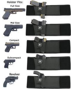 Image 2 - Sağ/sol el 2 in 1 Combo taktik karın bandı göbek tabanca tabanca kılıfı Glock 17 19 22 serisi Revolver en tabanca
