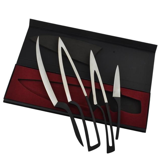 New Arrival 4 Pcs Set Ceramic Kitchen Knives Multi Function Portable Picnic Peeler
