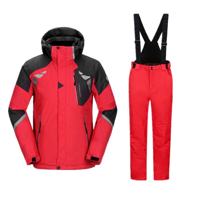 Winter Mens Ski Suit Snowboarding Men Waterproof Thicken Sport For Snowboard Jacket Pants