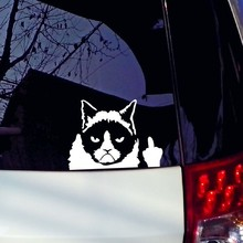 Funny Grumpy Cat motorcycle decal stickers waterproof cover scratches funny car stickers For vw Polo Golf 7 lada hyundai peugeot