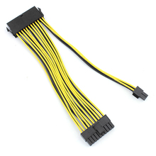 Newest 1x 24P 20+4 Pin Power Supply Motherboard Adapter Cable 18AWG 20CM for BTC RIG Extended Miner Mining Wire Extension Cord