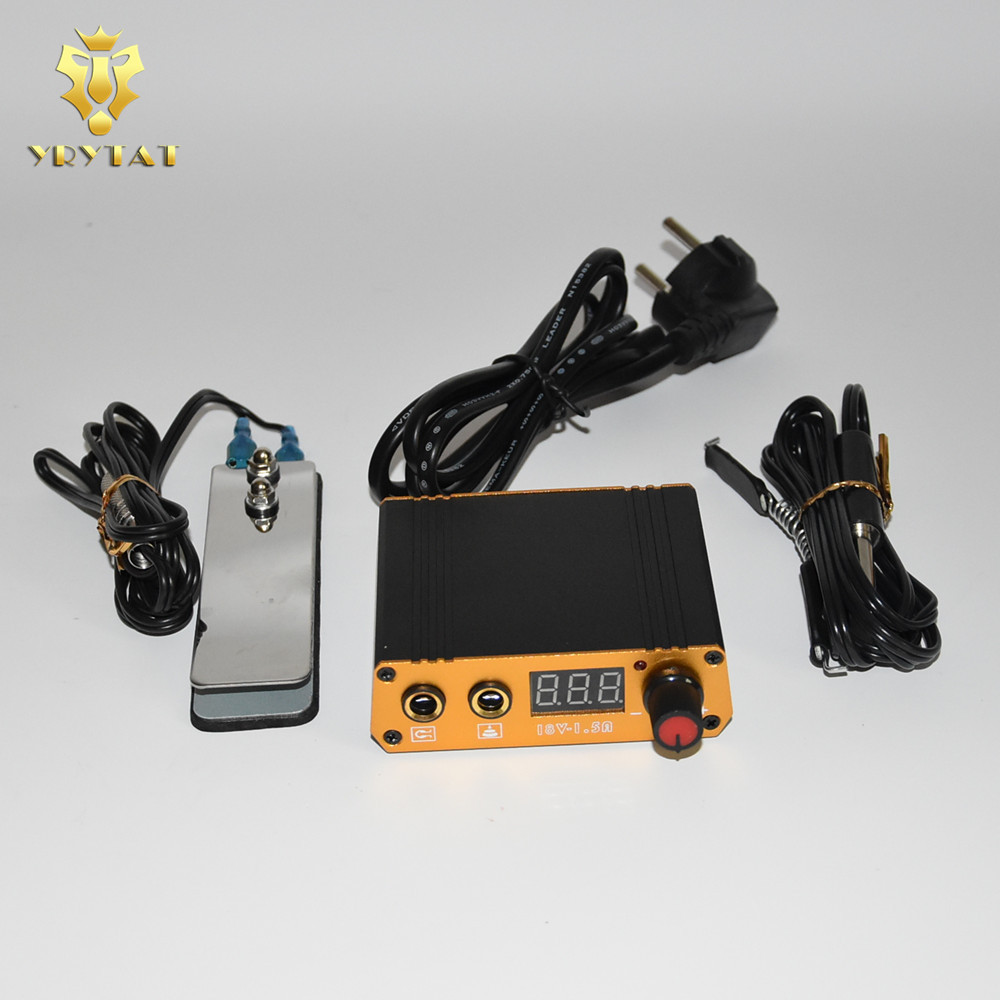 One Premium Mini Tattoo Power Foot Switch Pedal Clip Cord For Machine Kit Set Supply - TPFS03 цены онлайн