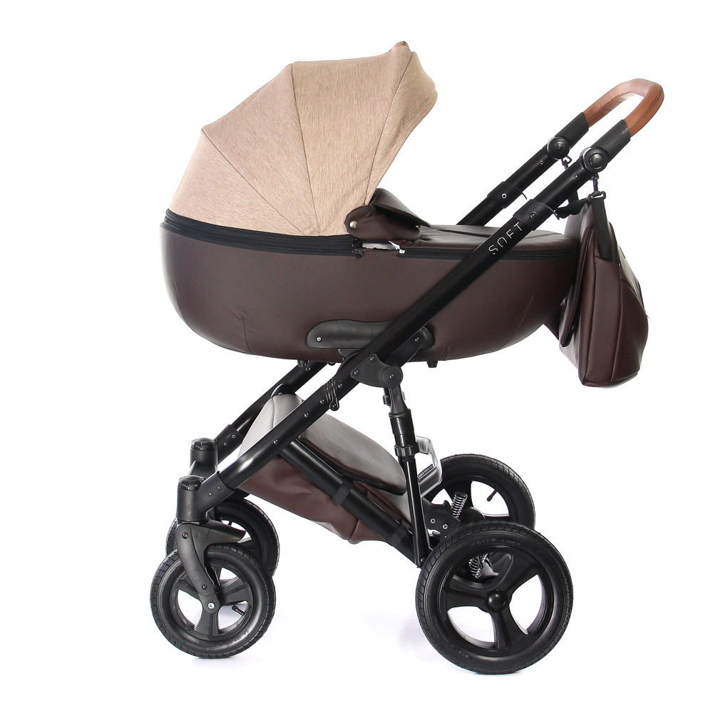 Four Wheels Stroller Everflo SOFT stroll baby  for boys and girls children strollers 2 in 1 walk Chocolate