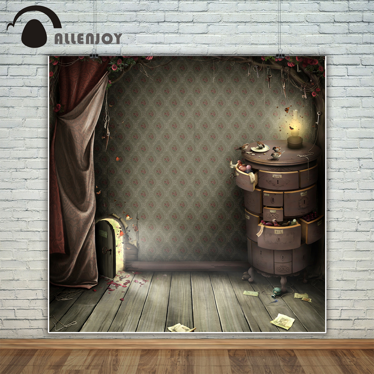 Allenjoy photography backdrop Alice small door amazing garden fairy tale background photo studio new design camera fotografica