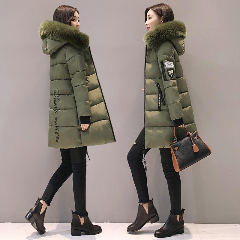Parka Women Winter Coats Long Cotton Casual Fur Hooded Jackets Women Thick Warm Winter Parkas Female