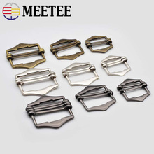 5pcs 20/25/30mm Double Metal Buckles for Backpack Webbing Fashion Adjustable Bag Buckle Clasps Pin DIY Crafts