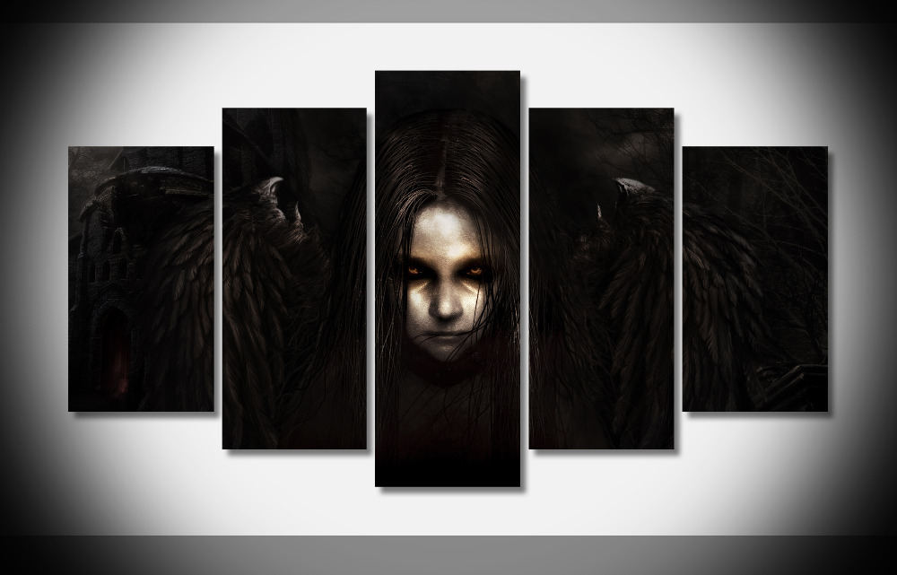7433 fear poster framed gallery wrap art print home wall for Home interiors and gifts framed art