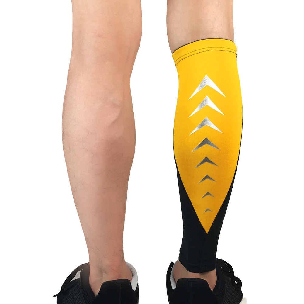 Sports Protection Leg Socks Sleeve Calf Support Exercise Reflective Strip Design SPSLF0050