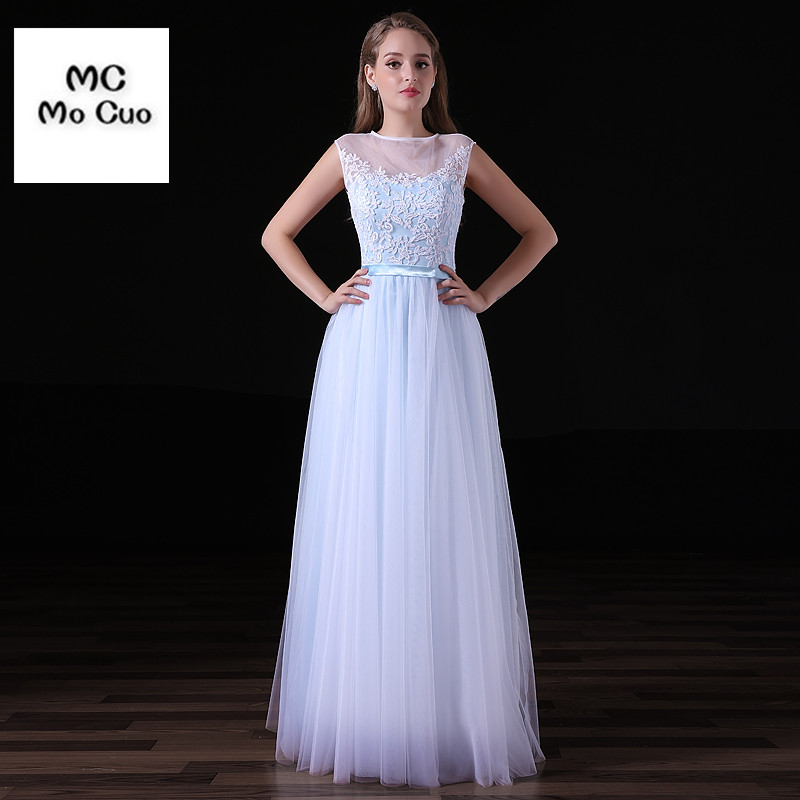 Promotion 2017 Fashion Long   Prom     Dresses   Cap Sleeves Appliques Sheer Lace Button Floor Length Tulle   Prom     Dress   Floor Length