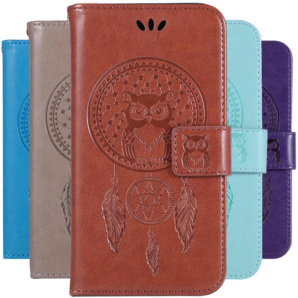 Humble Dream Catcher Owl Pattern Book Case Leather For Huawei Nova 3i P Smart Plus Flip Wallet Cover Shell Card Money Slots Holder High Quality Materials Camera & Photo