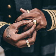 Vitaly brand design los hombres anillos de acero titanium de la manera bijoux anillos de hombre negro joyería de la boda anillos de hombre regalos envío de la gota