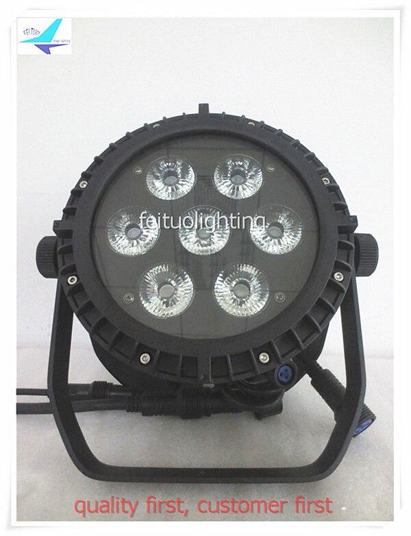 free shipping 6pcs/lot LED Outdoor Par64 RGBWA UV 7x18w IP65 Par Light Stage 6in1 LED Par Can DMX Strobe for Show DJ Disco Wash