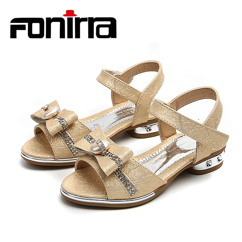 408cadca5 Latest Fashion Girls Little Heel Sandals Simple Beautiful Fancy Children s  Flat Sandals With Bowknot Kids Summer Sandal 374-in Sandals from Mother    Kids on ...